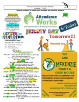 McKenzie Elementary Daily Bulletin October 1, 2019