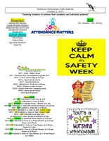 McKenzie Elementary Daily Bulletin October 3, 2019