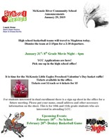 McKenzie River Community School Announcements January 29, 2019