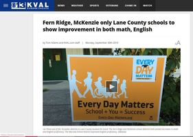 McKenzie, Fern Ridge Featured on KVAL for Improving State Assessment Scores.