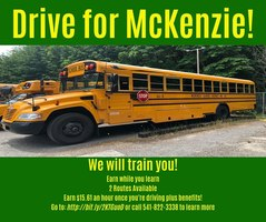 McKenzie School District Needs Two Bus Drivers!