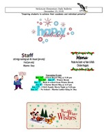 McKenzie Elementary Daily Bulletin December 19, 2018