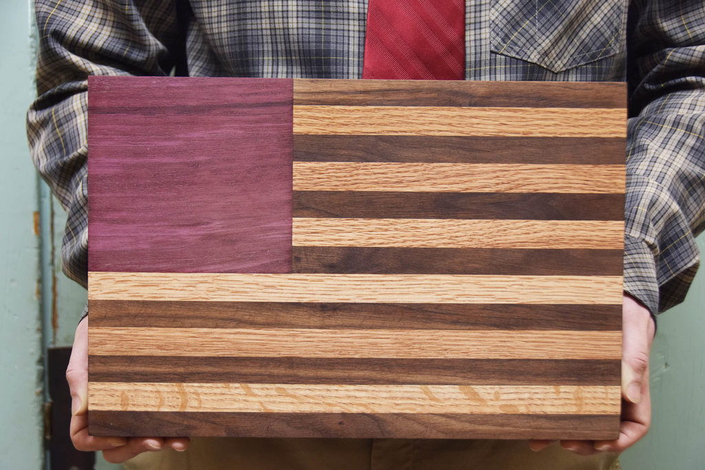 Owen Rudsill's American flag cutting board
